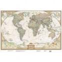 Карта мира под старину. National Geographic. А1