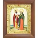 Икона Киприан и Иустина. 10x12