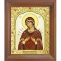 Икона Семистрельной Божией Матери. 15x18