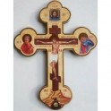 Настенный крест с золотым тиснением с ликом святых 200x105x6 мм