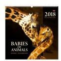 Календарь на гребне с ригелем на 2018 год «Мамы и малыши»
