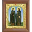 Икона Петра и Февронии. 10x12