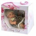 Baby Doll. Пупс в платьице и шапочке, 25 см (Т15459)