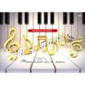 """Тетрадь для нот """"Ноты на пианино"""" (16 листов, А4) (16-7610)"""