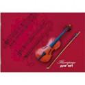 """Тетрадь для нот """"Скрипка на красном"""""""