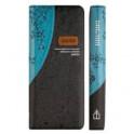 Библия каноническая 045 УZDTTI (голубой-черный, экокожа, серебряный обрез, на молнии)
