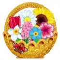 Корзинка с цветами (оформительский и дидактический набор. 64 картинки)