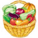 Корзинка с овощами. Оформительский и дидактический набор. 64 картинки (ламинированный)
