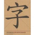 Прописи для китайских иероглифов (крупная клетка)