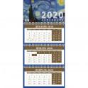Ван Гог. Календарь настенный трехблочный на 2020 год