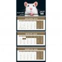 Год Крысы. Календарь трехблочный на 2020 год