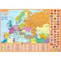 Планшетная карта Европы. Политическая. Физическая. Двусторонняя