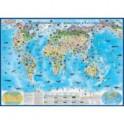 """Карта настенная """"Мир. Природные зоны, животные и растения"""" (КН83)"""
