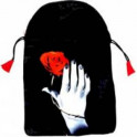 """Мешочек """"Роза в руке"""" для карт таро (шелкография)"""