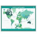 """Скретч-карта мира А2 """"Premium Edition"""", зеленая"""