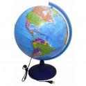 Глобус Земли политич d400 подсветка Ке014000245