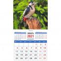 """Календарь магнитный на 2021 год """"Дятел в лесу"""""""
