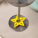 "Декор для бокала ""Звезда"" 6 см, 100% п/э, фетр"