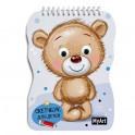 Скетчбук для детей с глазками. Медведь