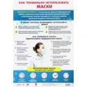 """Плакат """"Как правильно использовать медицинские маски"""", формат А3"""