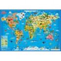 Мой мир. Карта мира настенная в тубусе, 101х69 см.