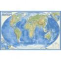 Карта мира физическая. Настенная карта (в рукаве)